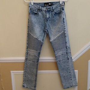 RSQ Boys Tokyo Super Skinny Moto Jeans size 14